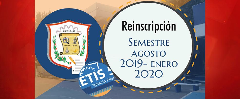 Reinscripción AGOSTO 2019 – ENERO 2020