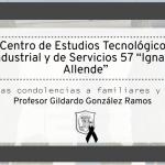 Exequias profesor Gildardo González Ramos